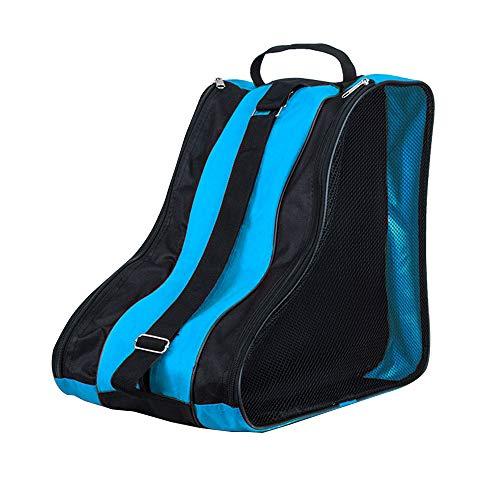 DAZISEN Bolsa para Patines - Mochila Protecciones Patines en Linea Patines de Hielo Skate Bag Unisex Adulto Niño Niña Azul