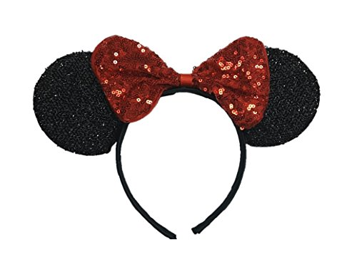 Buy 12 Minnie Mouse Inspired Headband Ears Birthday Party favors or Disney Trip 12 pcs