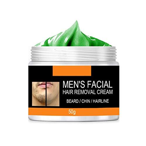 Enkomy Crema depilatoria para Barba, Crema depilatoria Facial indolora para Hombres, rápida y eficaz, 30 / 50g