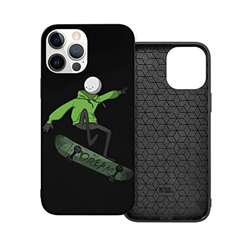 tiezhi Dream SM-P Skateboard Compatibile con iPhone 12/12 PRO Max 12 Mini 11 PRO Max SE X/XS Max XR 8 7 6 6s Plus Samsung S21 Ultra TPU Full Protection Cover Black