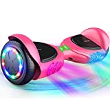 TOMOLOO Music-Rhythmed Hover Board for Kids and Adult Two-Wheel Self-Balancing Scooter- UL2272 Certificated with Music...