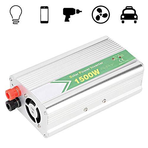 Best Price! Nannday Car Power Inverter, Vehicle Adapter 1500W 1USB Car Power Inverter Converter Charger Correction Wave 12V to AC220V-240V