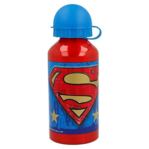 Bottiglia D'acqua In Alluminio 400 ml Superman Symbol