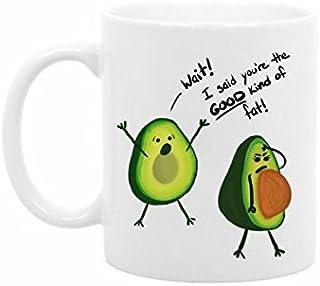 The Coffee Corner - Funny Avocado Coffee or Tea Mug - 11 Ounce White Ceramic - Gift for Girlfriend, Gift for Boyfriend, Best Friend Gift