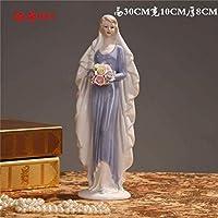 像セラミック女神の女の子女性の置物家の装飾工芸品部屋の装飾結婚式の手工芸品の装飾磁器、23
