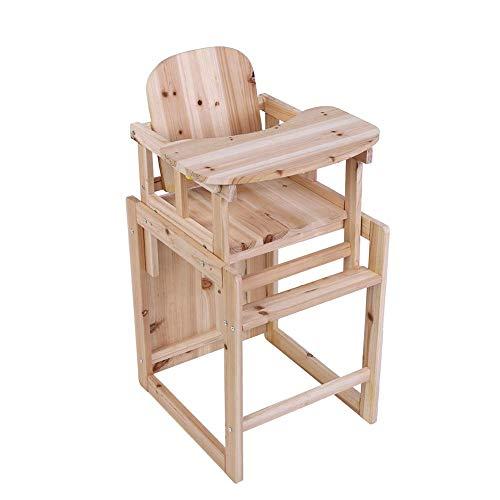 Baby houten hoge stoel, babystoel combistoel afneembare kinderstoel met verstelbaar dienblad veranderbaar tot tafel & stoel