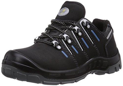 Wortec Unisex-Erwachsene Manolo S1P Sicherheitsschuhe, Schwarz (schwarz/grau/blau), 41 EU