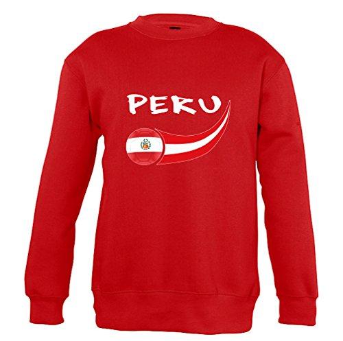 Supportershop–Perú–Sudadera para niño, Niño, Color Rojo, tamaño Medium