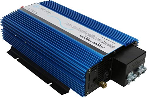 AIMS Power PWRIX120012SUL Pure Sine Inverter with Transfer Switch, 1200W Continuous Power, 2400W Surge Peak Power, Intelligent Cooling Fan, Less Than 20msec Transfer Time