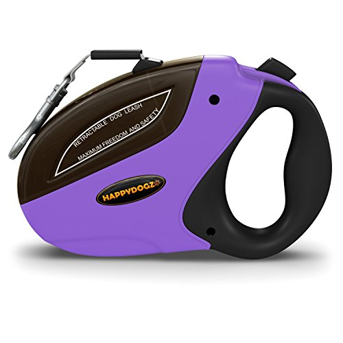 Security Pro Retractable Dog Leash - Smooth Retraction, Strong Locking Mechanism and a Comfortable...