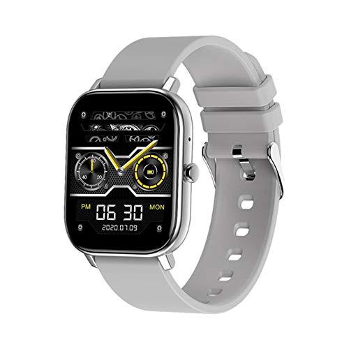 QLK GW22 Multifunción Watch Smart Watch Call Bluetooth Tasa De Corazón Control Remoto Selfie, Monitoreo De La Salud Pulsera para Hombres Y Mujeres Adecuado para Android iOS,B