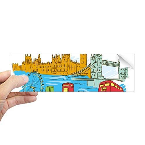 DIYthinker Nederland het Verenigd Koninkrijk Londen Rechthoek Bumper Sticker Notebook Window Decal