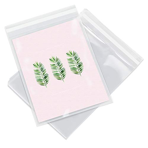 """Pack It Chic - 6"""" X 9"""" (200 Pack) Clear Resealable Polypropylene Bags - Fits 6X9 Prints, Photos, A7 A8 A9 Cards & Envelopes - Self Seal"""