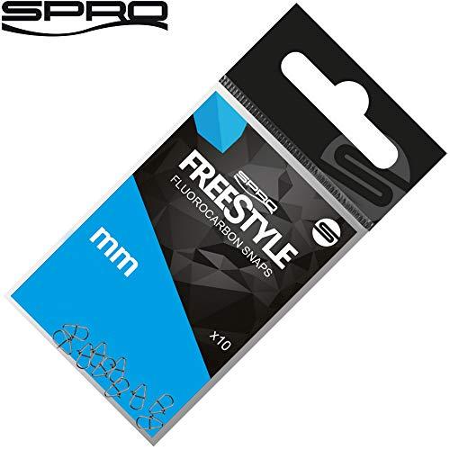 Spro Freestyle Reload Fluoro Snaps - 10 Einhänger zum Ultra Light Angeln, Karabiner zum Spinnfischen auf Barsche & Zander, Größe/Tragkraft:Gr. 4.5mm / 14kg