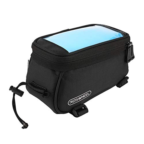 abbybubble ROSWHEEL Cycling Bike Bicycle Bags Panniers Front Frame Front Tube Bag Touch Screen Bag For Cell Phone Mountain Bike