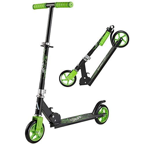 Albott 145mm Wheel Kickscooter City Scooter Kickroller Kinderroller Tretroller Pro City-Roller klappbar und höhenverstellbar Cityroller für Erwachsene und Kinder ab 5