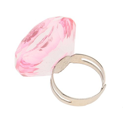 MagiDeal Anneau Bague en Strass Support Pigment Extension de Cils/Faux Cils - Tasse en Crystal Porte Colle/Glue de Tatouage Corporel - Rose