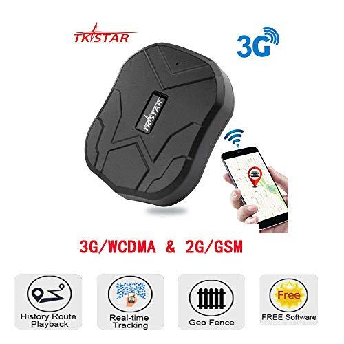 Rastreador GPS 3G/2G, dispositivo seguimiento en tiempo real global, rastreador GPS antirrobo con aplicación de teléfono/web para vehículo personal de animales 3.7V 5000 mAh batería recargable por USB