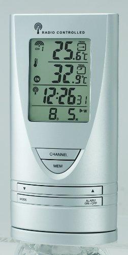 Cresta Wetterstation Funksensor, LCD Display, Doppelte Weckfunktion, Erweiterbar