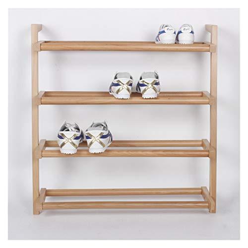 YSYSPUJ Zapatero 4 Capas Zapatillas de Zapatos Simples bastidores económicos domésticos Dormitorio Puerta de Almacenamiento Rack Bambú Zapato Gabinete Creativo (Color : Wood Color, Size : 49cm)