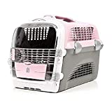 Catit Transportín Pet Cargo Cabrio, 51 x 33 x 35, Color Rosa, Gris y Blanco