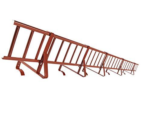 Komplettes SCHNEEFANGGITTER Set 3,00 m Lang, Schneefang, Gitterhöhe 15 und 20 cm (20 cm, Ziegelrot)