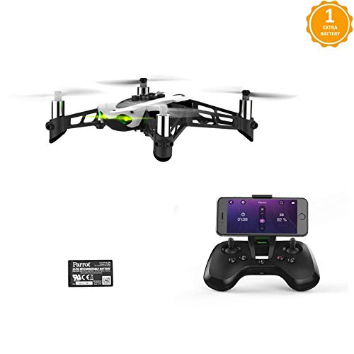 Parrot Mambo Fly Drone with Flypad and FREE Extra Battery - White...