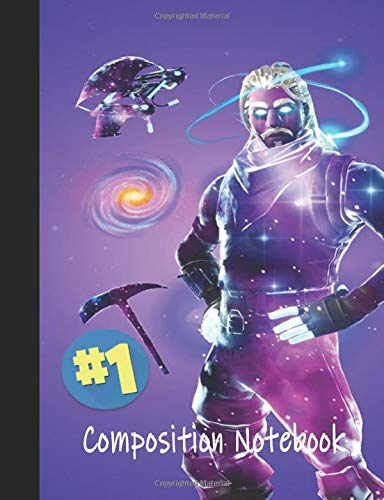 #1 Composition Notebook: Galaxy   Premium Wide Rule Composition Notebook   #1 Victory Series