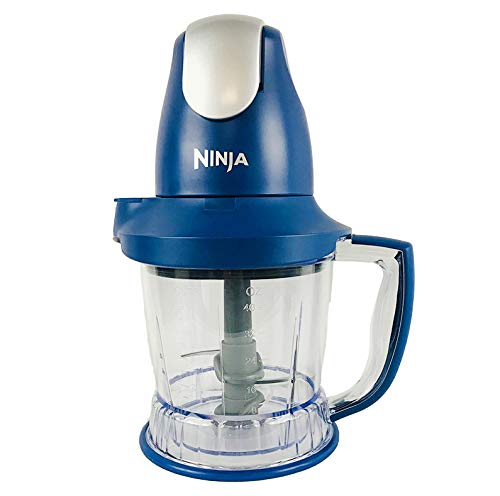 Ninja Storm Food Processor/Blender with 450-Watt Motor base| Power Pod with Total Crushing Technology| BPA-Free Pitcher Blue QB751Q (Renewed)