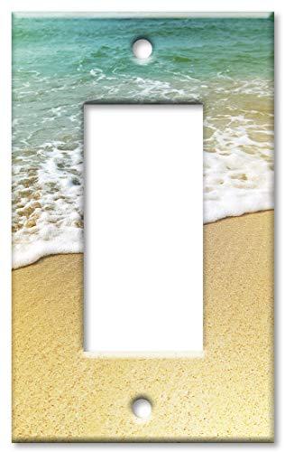 Art Plates 1 Gang Decora - GFCI Wall Plate - Foamy Waves on the Beach
