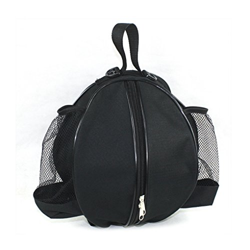 Holiberty Upscale Portable Stylish Sport Professional Basketball Football Volleyball Case Waterproof Bag Adjustable Large Shoulder Handbag Bag Backpack(Black)