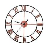 AMYZ Mecanismo de Metal Grande números Romanos - Sala de Estar Reloj de Pared de Metal Reloj de Pared Hierro Forjado Reloj Retro Romano Reloj de Pared Reloj de pared-50cm