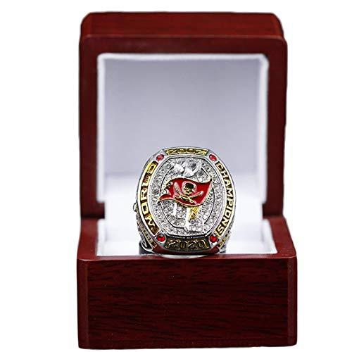 FTIK Tampa Bay Ring,Meisterschaft Ring Herren 2002 Tampa Bay Buccaneers Super Bowl XXXVII Championship Ring Replica Sammler Geschenk Größe 14 B