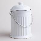 White Ceramic Compost Bucket | World Market