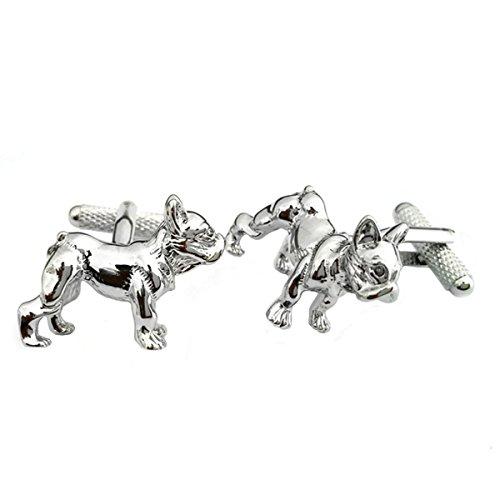 Polished French Bulldog Cufflinks