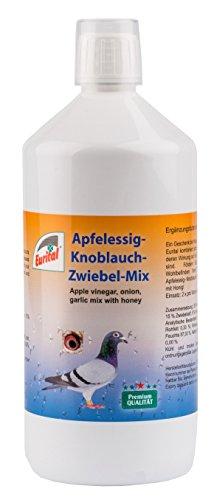 Apfelessig-Knoblauch-Zwiebel-Mix mit Honig 1000ml für Brieftauben, Vögel, Pferde, Exotische Tiere