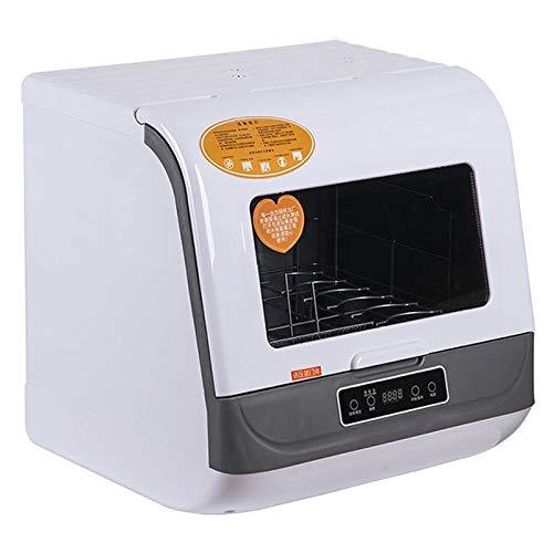 XMYL Mini Lavavajillas De Mesa Portátil, Lavaplatos Lavavajillas Pequeño Automático Limpieza Rápida Lavavajillas Máquina Multifunción con 3 Modos De Limpieza, 72 ℃ Limpieza A Alta Temperatura,White