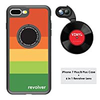 Ztylus デザイナーリボルバーMシリーズカメラキット: iPhone 7 Plus / 8 Plus用ケース付き6イン1 レンズ - 2倍望遠レンズ マクロ スーパーマクロレンズ 広角レンズ