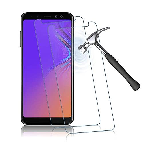 Panzerglas Schutzfolie für Samsung Galaxy A8, 9H Festigkeit, Anti-Kratzen, Anti-Bläschen Bildschirmschutzfolie, 2 Stück Panzerglasfolie Kompatibel mit Samsung Galaxy A8 (Transparent)