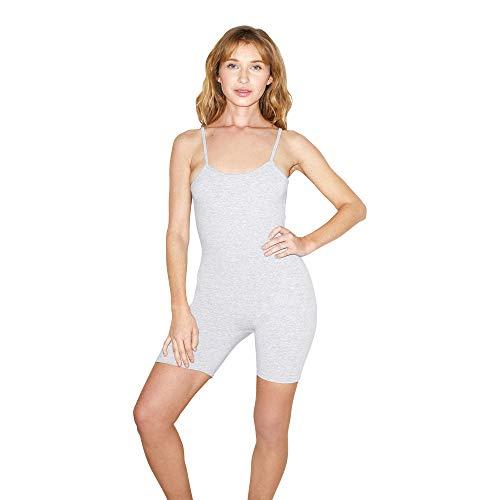 American Apparel Women's Cotton Spandex Sleeveless Singlet, Heather Grey, X-Small