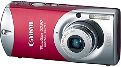Canon Powershot SD30 5MP Digital Elph Camera with 2.4x Optical Zoom (Rockstar Red)
