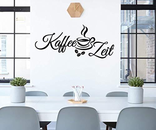 *NEU* Wandaufkleber/Wandtattoo/Wandsticker - Spruch für die Küche/Büro ***Kaffee Zeit*** (Größen.- und Farbauswahl)