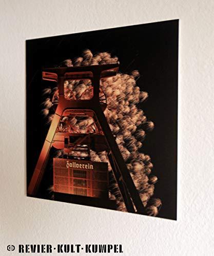 VK Ruhrgebiet Kunstdruck Zeche Zollverein Essen Feuerwerk - Poster Bild 20x20cm