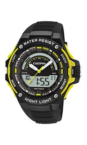Calypso Watches Reloj Analógico-Digital para Hombre de Cuarzo con Correa en Plástico K5768/1