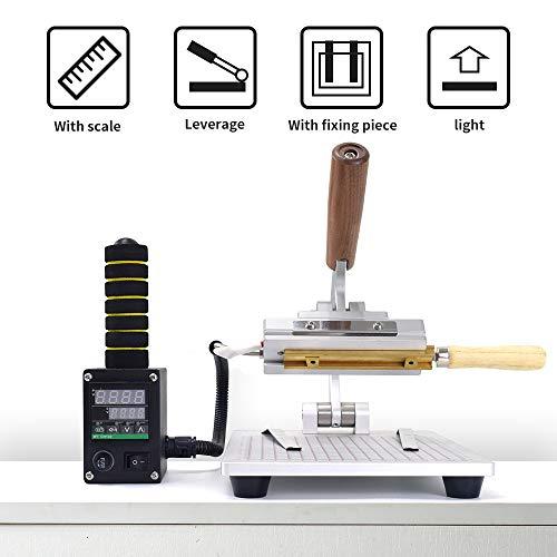 Desktop Hot Foil Stamping Machine 10x13cm with Handheld Brass T-Slot 110V for PVC Wood PU Leather Logo Embossing Bronzing