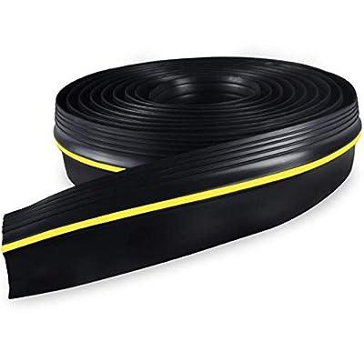 Adust Garage Door Threshold Seal, Waterproof Floor Buffer Seal Weather Stripping, Heavy Duty Bottom Rubber Flexible 20 Ft
