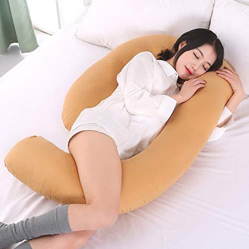 XiaoOu Cuscino per Il Corpo, Cuscini Comodi per la Gravidanza Cintura di maternità Cuscino per Gravidanza Carattere del Corpo Cuscino per dormienti in Gravidanza, Cachi, Cuscino per succulente