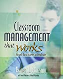 Classroom Management that Works by Marzano