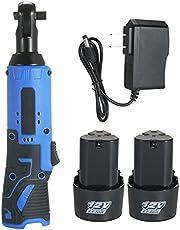 Baugger 12Vパワーラチェットレンチ,コードレス電気ラチェット,コードレス電動ラチェットレンチ12Vパワーラチェットツールラチェットソケットレンチ1パック4500mAh充電式バッテリー付き,ラチェットソケットレンチ