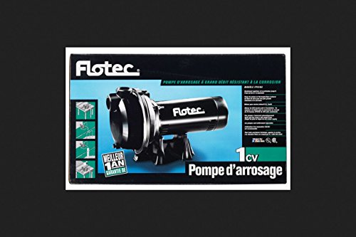 Flotec FP5162 Pump, Thermo-Plastic Sprinkler Pump - 1 HP